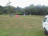 Even farther up the hill were Mike and Gary's tents