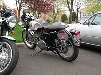 "Karl's BSA with newly affixed ""Snuffy"" memorial plate"