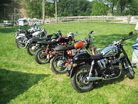 Early line up of bikes