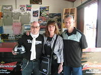 Scott with Linda and Mark Wilsmore of The ACE Cafe