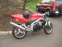 "Mike's Triumph Daytona ""Streetfighter""<br>