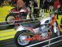 Honda CL750 Scrambler (front) and RS750 Flat Tracker. Both are modified versions of the Honda Shadow RS.