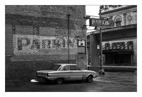 Picture of my 1961 Ford Falcon somewhere in downtown Detroit.