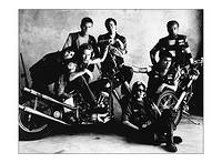 Before moving to PA I rolled with the highway men of Detroit. Didn't ride but was an active member. From left are Lucy, me, Willy, Dave of 25th St, Jennifer, Gorgeous George and Bushy. All guys from the hood. Willy liked vintage iron. By the way it's a...